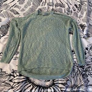 Charlotte Russe Off The Shoulder Green Sweater Med